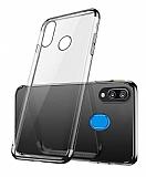 Eiroo Radiant Samsung Galaxy A20 / A30 Siyah Kenarlı Şeffaf Rubber Kılıf