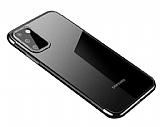 Eiroo Radiant Samsung Galaxy A41 Silver Kenarlı Şeffaf Silikon Kılıf