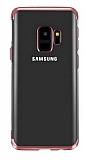 Eiroo Radiant Samsung Galaxy A6 2018 Kırmızı Kenarlı Şeffaf Silikon Kılıf