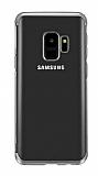 Eiroo Radiant Samsung Galaxy A6 2018 Silver Kenarlı Şeffaf Silikon Kılıf