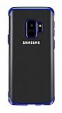 Eiroo Radiant Samsung Galaxy A6 2018 Lacivert Kenarlı Şeffaf Silikon Kılıf