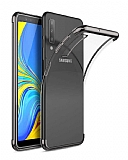 Eiroo Radiant Samsung Galaxy A70 Silver Kenarlı Şeffaf Silikon Kılıf