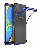 Eiroo Radiant Samsung Galaxy A70 Lacivert Kenarlı Şeffaf Silikon Kılıf