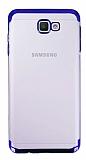 Eiroo Radiant Samsung Galaxy J4 Plus Lacivert Kenarlı Şeffaf Silikon Kılıf