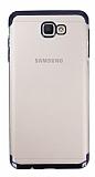 Eiroo Radiant Samsung Galaxy J4 Plus Siyah Kenarlı Şeffaf Silikon Kılıf