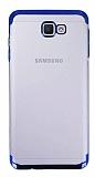 Eiroo Radiant Samsung Galaxy J4 Plus Siyah Kenarlı Şeffaf Rubber Kılıf