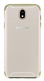 Eiroo Radiant Samsung Galaxy J5 Pro 2017 Gold Kenarlı Şeffaf Rubber Kılıf