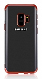 Eiroo Radiant Samsung Galaxy J6 Kırmızı Kenarlı Şeffaf Silikon Kılıf