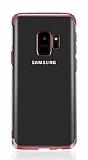 Eiroo Radiant Samsung Galaxy J6 Rose Gold Kenarlı Şeffaf Silikon Kılıf