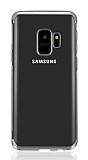 Eiroo Radiant Samsung Galaxy J6 Silver Kenarlı Şeffaf Silikon Kılıf