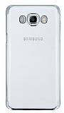 Eiroo Radiant Samsung Galaxy J7 2016 Silver Kenarlı Şeffaf Rubber Kılıf