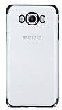 Eiroo Radiant Samsung Galaxy J7 2016 Siyah Kenarlı Şeffaf Rubber Kılıf