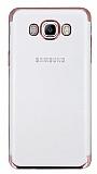 Eiroo Radiant Samsung Galaxy J7 2016 Rose Gold Kenarlı Şeffaf Rubber Kılıf