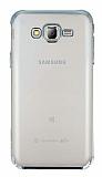 Eiroo Radiant Samsung Galaxy J7 Silver Kenarlı Şeffaf Rubber Kılıf