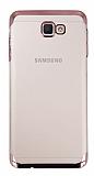 Eiroo Radiant Samsung Galaxy J7 Prime Rose Gold Kenarlı Şeffaf Rubber Kılıf