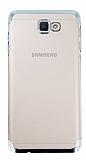 Eiroo Radiant Samsung Galaxy J7 Prime Silver Kenarlı Şeffaf Rubber Kılıf