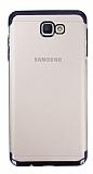 Eiroo Radiant Samsung Galaxy J7 Prime Siyah Kenarlı Şeffaf Rubber Kılıf