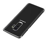 Eiroo Radiant Samsung Galaxy J8 Siyah Kenarlı Şeffaf Silikon Kılıf