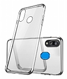 Eiroo Radiant Samsung Galaxy M20 Silver Kenarlı Şeffaf Rubber Kılıf