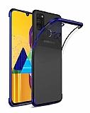 Eiroo Radiant Samsung Galaxy M31 Lacivert Kenarlı Şeffaf Silikon Kılıf