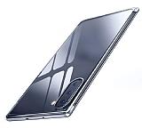 Eiroo Radiant Samsung Galaxy Note 10 Silver Kenarlı Şeffaf Silikon Kılıf