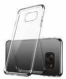 Eiroo Radiant Samsung Galaxy S7 Edge Silver Kenarlı Şeffaf Rubber Kılıf