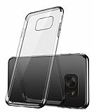 Eiroo Radiant Samsung Galaxy S7 Edge Siyah Kenarlı Şeffaf Rubber Kılıf