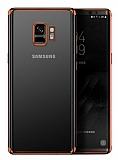 Eiroo Radiant Samsung Galaxy S9 Rose Gold Kenarlı Şeffaf Rubber Kılıf