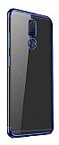 Eiroo Radiant Vestel Venus V7 Lacivert Kenarlı Şeffaf Silikon Kılıf