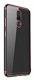 Eiroo Radiant Vestel Venus V7 Rose Gold Kenarlı Şeffaf Silikon Kılıf