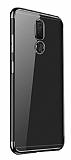 Eiroo Radiant Vestel Venus V7 Siyah Kenarlı Şeffaf Silikon Kılıf