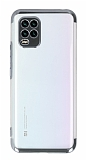 Eiroo Electro Xiaomi Mi 10 Lite Silver Kenarlı Şeffaf Silikon Kılıf