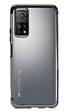 Eiroo Radiant Xiaomi Mi 10T Pro Siyah Kenarlı Şeffaf Silikon Kılıf