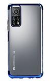 Eiroo Radiant Xiaomi Mi 10T Pro Mavi Kenarlı Şeffaf Silikon Kılıf