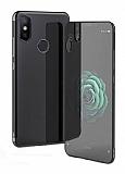 Eiroo Radiant Xiaomi Mi 8 SE Siyah Kenarlı Şeffaf Silikon Kılıf