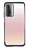 Eiroo Radiant Huawei P smart 2021 Siyah Kenarlı Şeffaf Silikon Kılıf