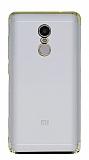 Eiroo Radiant Xiaomi Redmi Note 4 / Redmi Note 4X Gold Kenarlı Şeffaf Rubber Kılıf