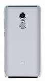 Eiroo Radiant Xiaomi Redmi Note 4 / Redmi Note 4X Silver Kenarlı Şeffaf Rubber Kılıf