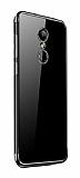Eiroo Radiant Xiaomi Redmi 5 Plus Siyah Kenarlı Şeffaf Silikon Kılıf