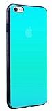 Eiroo Reflection iPhone 6 / 6S Tam Kenar Koruma Mavi Rubber Kılıf