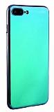 Eiroo Reflection iPhone 7 Plus Tam Kenar Koruma Mavi Rubber Kılıf