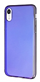 Eiroo Reflection iPhone XR Tam Kenar Koruma Mor Rubber Kılıf
