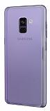 Eiroo Reflection Samsung Galaxy A8 2018 Tam Kenar Koruma Mor Rubber Kılıf
