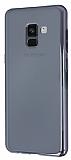 Eiroo Reflection Samsung Galaxy A8 2018 Tam Kenar Koruma Siyah Rubber Kılıf