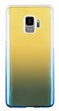 Eiroo Reflection Samsung Galaxy S9 Tam Kenar Koruma Mavi Rubber Kılıf