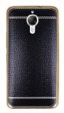 General Mobile GM 5 Plus Dikiş İzli Siyah Silikon Kılıf