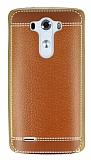 Eiroo Retro Look LG G3 Kahverengi Silikon K�l�f