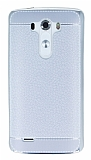 LG G3 Dikiş İzli Silver Silikon Kılıf