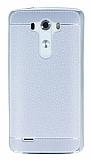 Eiroo Retro Look LG G3 Silver Silikon K�l�f