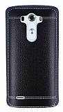 LG G3 Dikiş İzli Siyah Silikon Kılıf